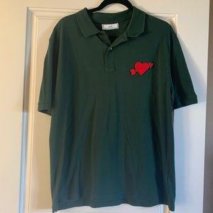 AMI ALEXANDRE MATTIUSSI Heart Polo Shirt